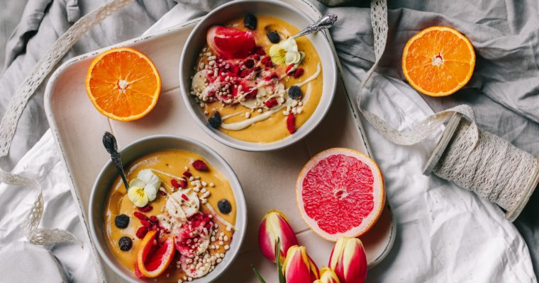 2 banana free smoothie bowls (low fructose + histamine)