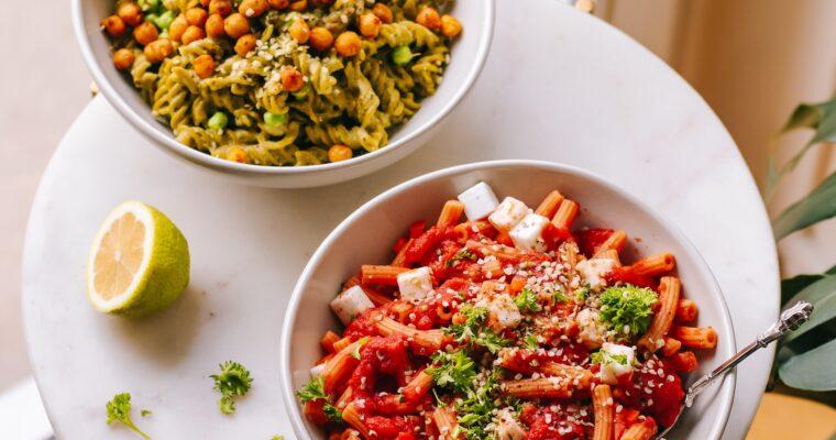 Meine 4 liebsten Pasta-Alternativen (glutenfrei, eiweissreich und gesund) & 3 leckere Saucen-Rezepte